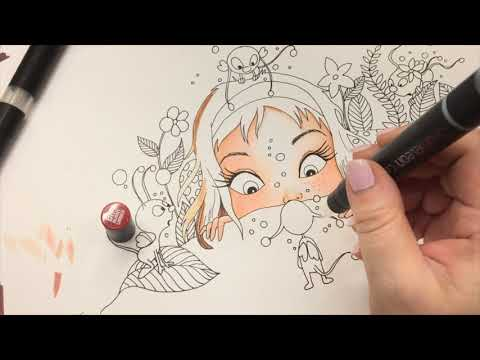 Chameleon Magic - Art Tutorial with Free Coloring Page Download by Sandrartes thumbnail
