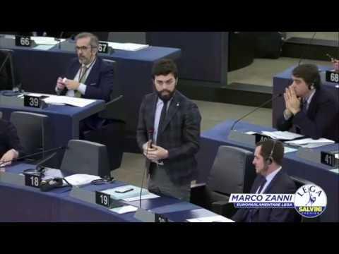 Marco Zanni - L'Ue Non Vuole Le Bandiere Delle Nazioni Sui Banchi (16.01.20)