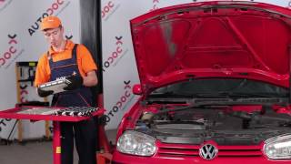 Kuinka vaihtaa Jarrukenkä VW GOLF IV (1J1) - ilmaiseksi video verkossa