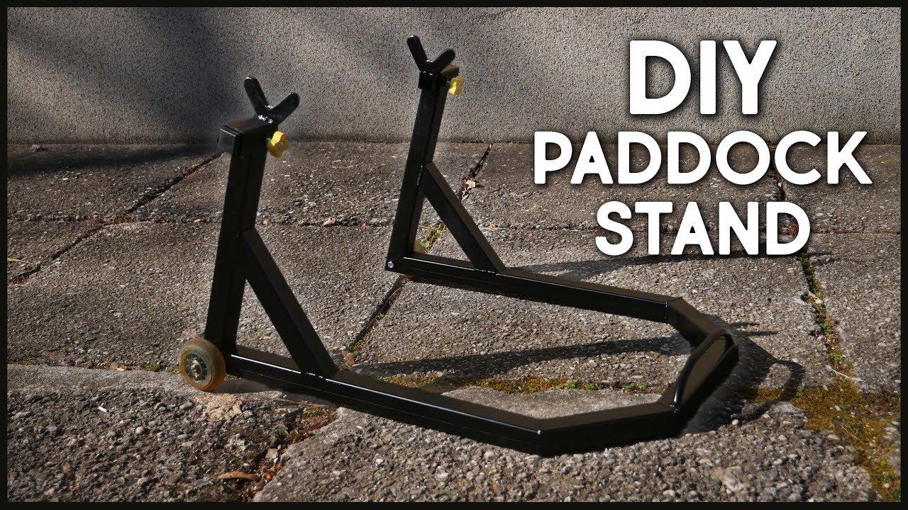 Make An Adjustable Paddock Stand Motorbike Stand