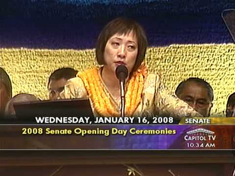 2008 Opening Day Remarks from Senate President Colleen Hanabusa