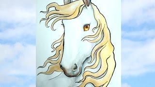 Арты лошадей(акварелью) на конкурс рисунков.