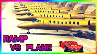 GTA V - CAN A RAMP CAR FLIP PLANE?