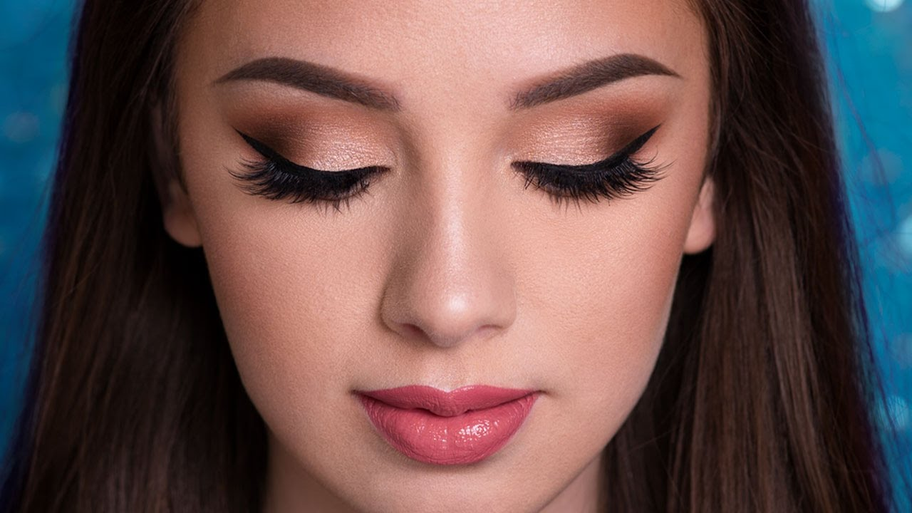 PROM Makeup Tutorial | EASY GLAM - YouTube