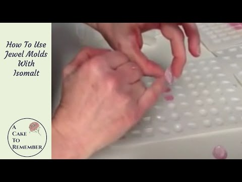 How to use jewel molds with isomalt for cake decorating
