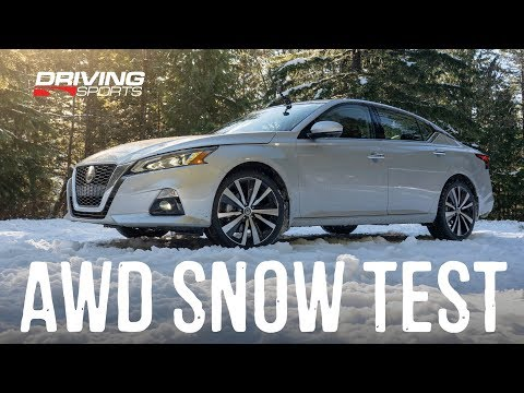 2019 Nissan Altima AWD Explained and Snow Test #drivingsportstv