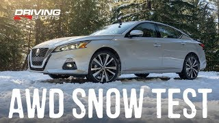 2019 Nissan Altima AWD Explained And Snow Test Drivingsportstv