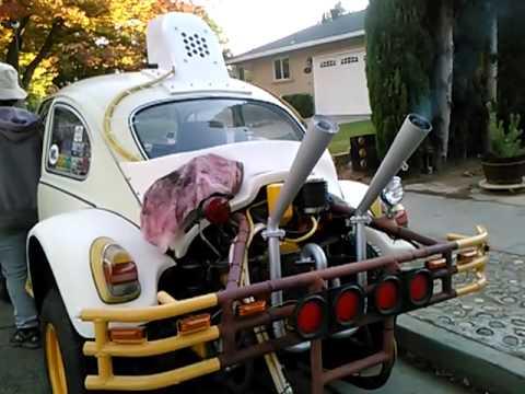 VW Baja Bug Dual Megaphone / Dual Stinger Exhaust - First Start