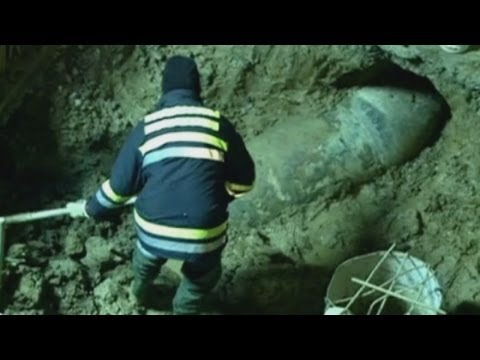 World War II bomb discovered beneath the streets of Belgrade, Serbia