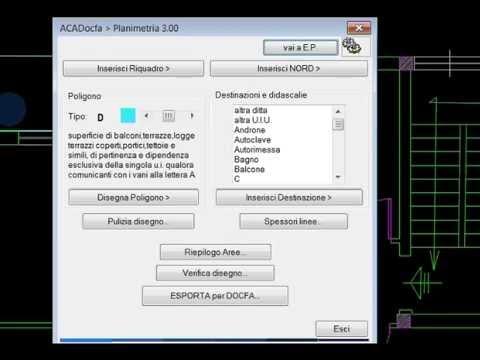 ACADocfa: planimetria e elaborato planimetrico per DOCFA in