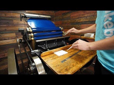 Letterpress Techniques: Overprinting With Neon Pantones!