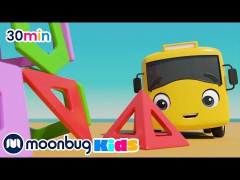 buster-lernt-formen-am-strand-|-kinderlieder-und-cartoons-|-go-buster-deutsch-|-moonbug-kids-deutsch