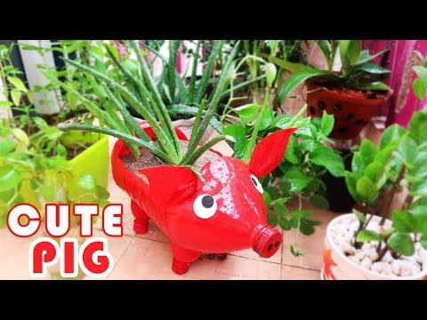 Amazing Craft Ideas | Cute DIY Pig-Shaped Plant Pots From Plastic Bottle