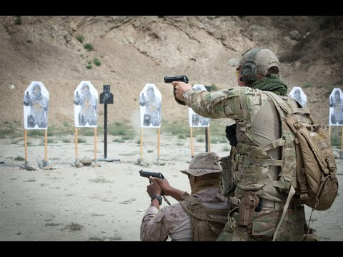 Tactics, Techniques, And Procedures - Hand Gun & Rifle Training (Footage)