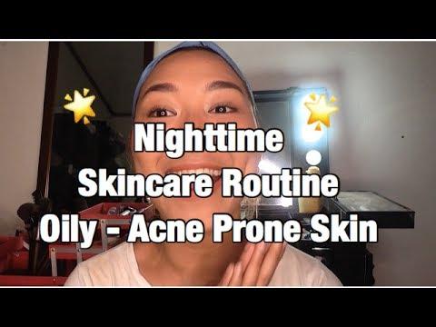 Nighttime Skincare Routine Oily - Acne Prone Skin ( BAHASA )