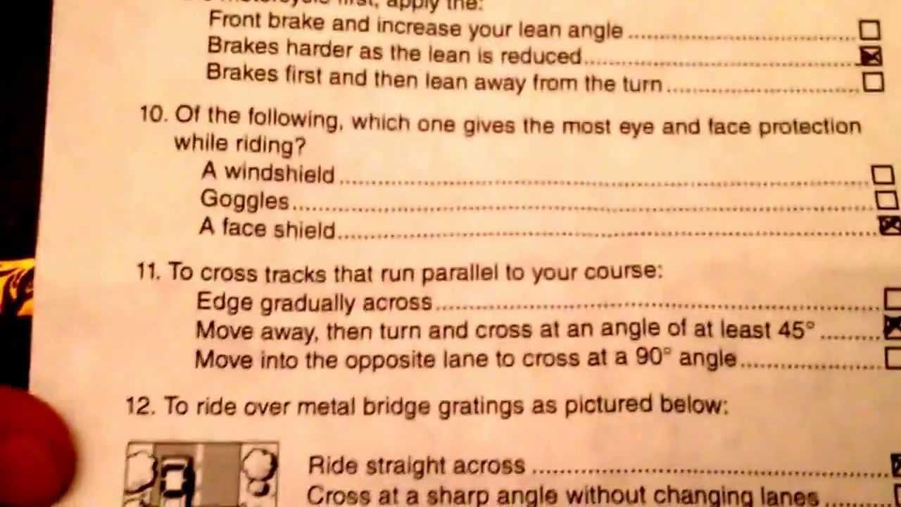 California Dmv Motorcycle Permit Exam