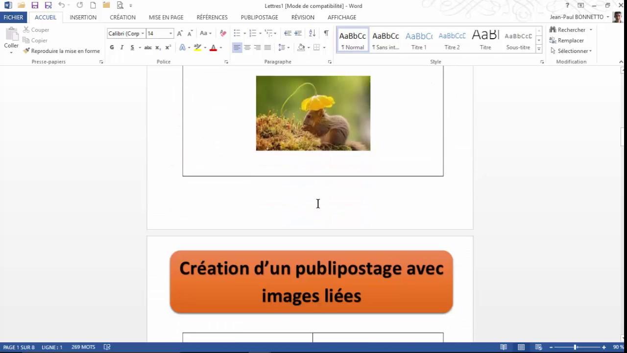 word - cr u00e9er un publipostage avec image dynamique
