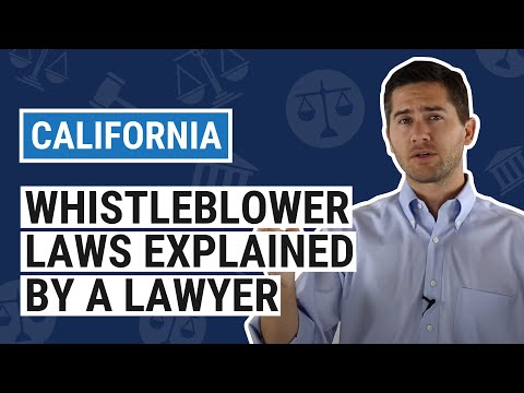 CA Whistleblower Laws Explained by an Employment Lawyer