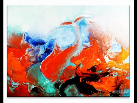 Abstract Art Painting Video Lesson \
