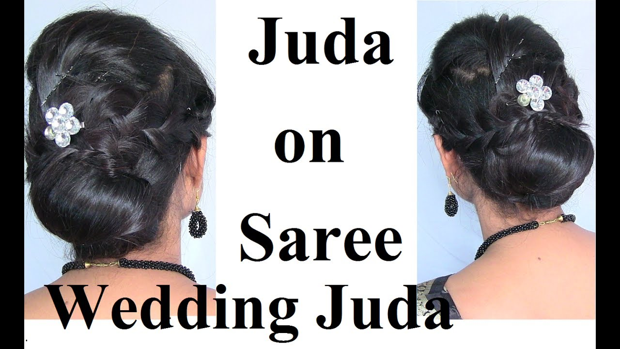 Bun on Saree - Indian Wedding Bun/Wedding Juda for Medium Long Hair ...
