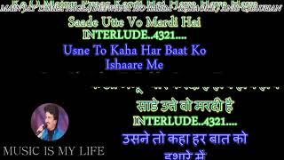 Main Jat Yamla Pagla Deewana - Karaoke With Scrolling Lyrics Eng.& हिंदी