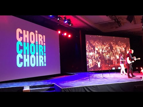 Choir! Choir! Choir! performing Don't Stop Believin' at the JiveWorld17 in Las Vegas