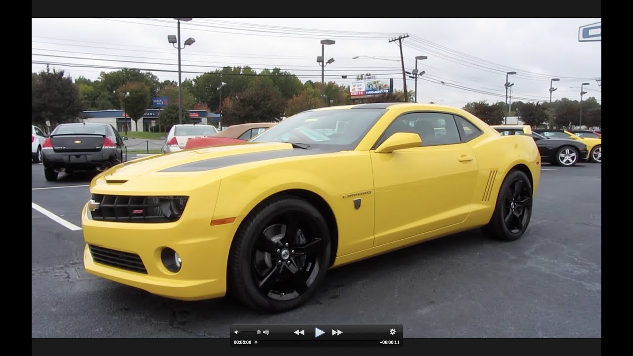 2012 chevrolet camaro ss transformers edition start up exhaust and in depth tour youtube