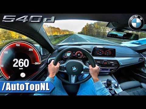 BMW 5 Series Touring G31 540d xDrive AUTOBAHN POV ACCELERATION & TOP SPEED by AutoTopNL