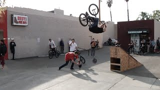 STACKED BMX PARKING LOT JAM in RIVERSIDE, CA
