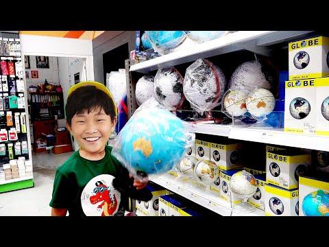 예준이와 아빠의 지구본 장난감 세계 여행놀이 Globe Toy World Trip