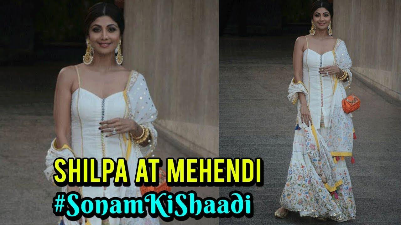 Mehndi Ceremony Of Shilpa Shetty : Shilpa shetty at sonam kapoor's mehendi anand ahuja wedding