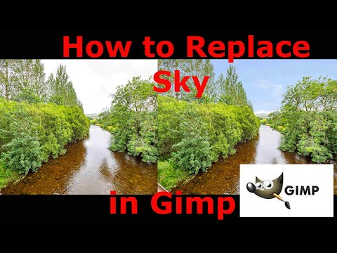 How To Replace Sky In GIMP