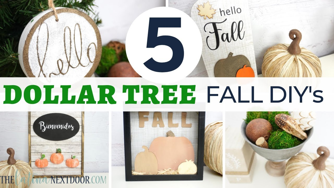 5 DOLLAR TREE FALL DIYs | Mystery Box Challenge July 2020