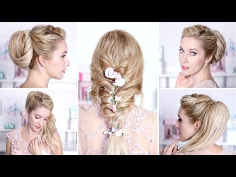 Романтические прически на выпускной, свадьбу своими руками на средние/длинные волосы