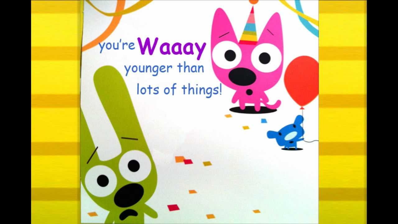 Hoops Amp Yoyo Birthday Card You Re Not Old Youtube