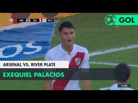 Exequiel Palacios (0-1) Arsenal vs River Plate | Fecha 24 - Superliga Argentina 2017/2018