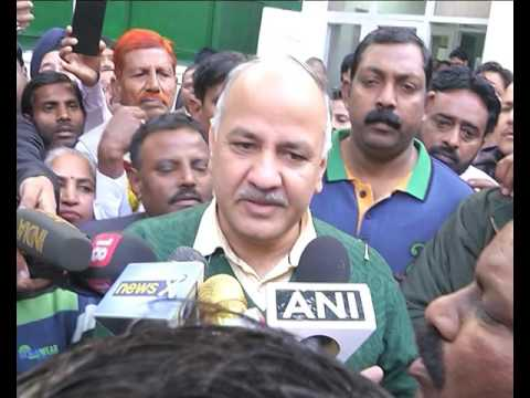 EDMC (MCD) Employees thanked Dy. CM Manish Sisodia for 119 Cr given for their salaries.