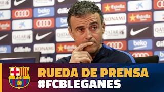 Rueda de prensa de Luis Enrique previa al partido FC Barcelona - Leganés