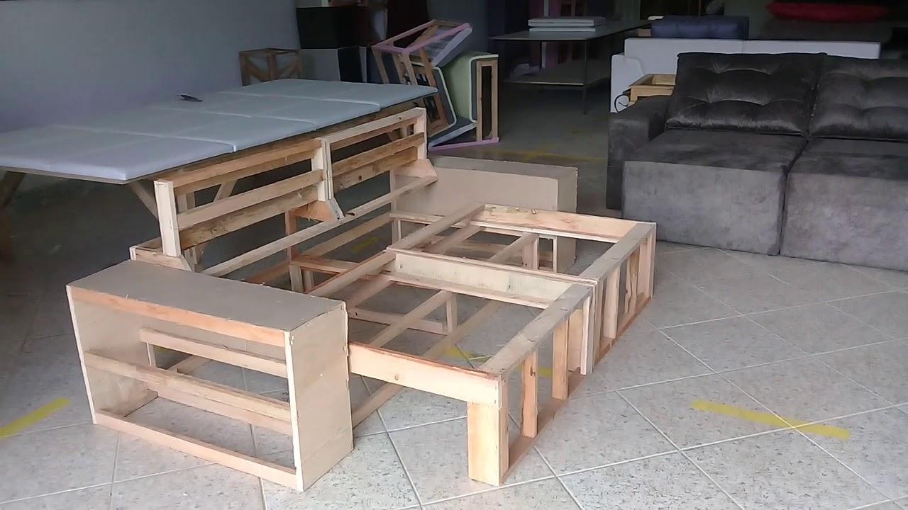 Estrutura sofá retrátil e reclinavel vs sofá retrátil ...