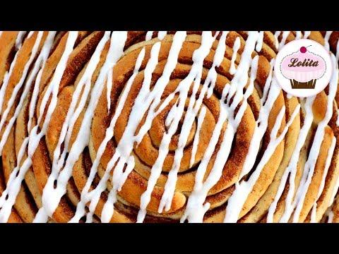 Receta de rollo de canela - Cinnamon rolls f�ciles - Rollo de canela