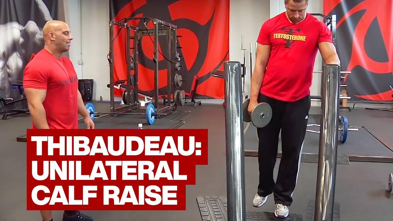 Dumbbell Unilateral Standing Calf Raise Youtube