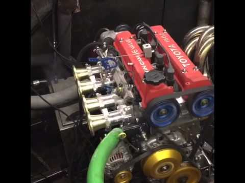 Toyota 4AGE engine on the Dyno