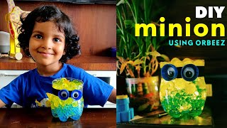 DIY Minion using Orbeez | Plastic bottle recycling | Activity for Kids