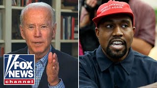 Kanye West suggests presidential campaign is meant to hurt Biden