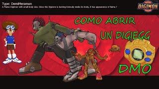 Como abrir un DigiEgg Digimon Masters Online