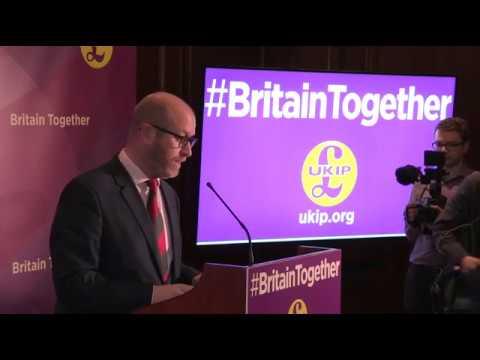 UKIP General Election Campaign Launch, London April 28, 2017