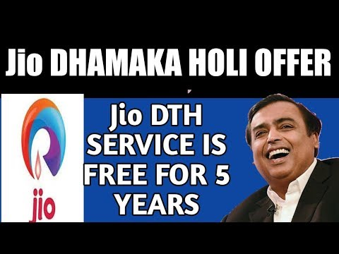 Reliance Jio DTH Free For 5 Year In Effectively Free Installation Charges