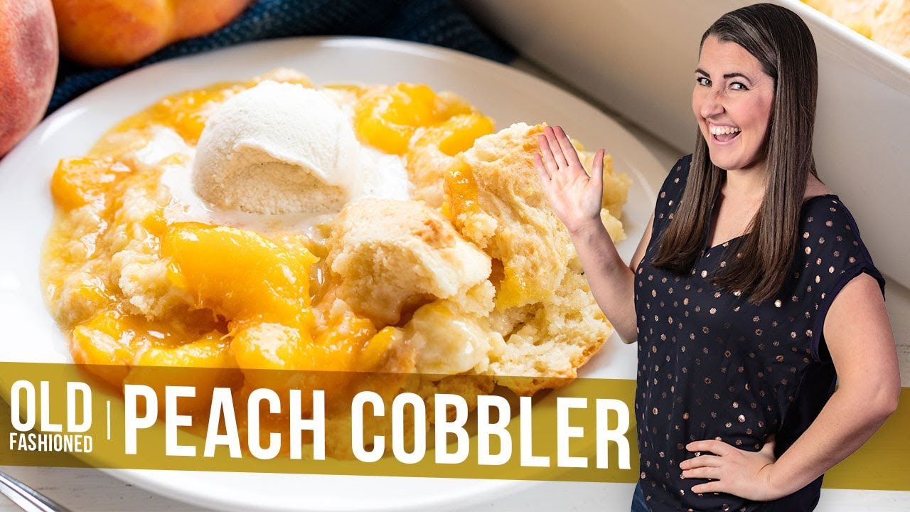 Download How to Make Old Fashioned Peach Cobbler | The Stay At Home Chef
