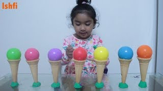 Toddler Learn colors with Ice Cream Cone & Ball Pit with Rufi Ishfi Radia