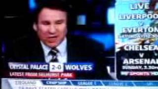 Paul Merson's reaction to Danny Butterfield's hat-trick against Wolves.